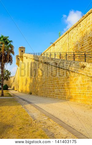 The Land Walls Of The Old City Of Acre