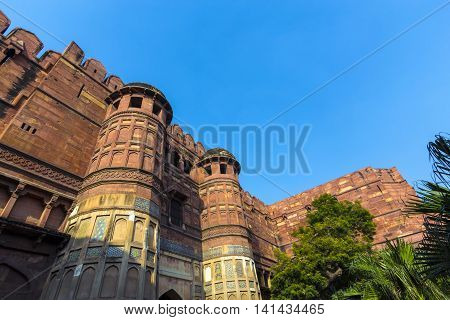 Red Fort In Agra, Amar Singh Gate, India, Uttar Pradesh
