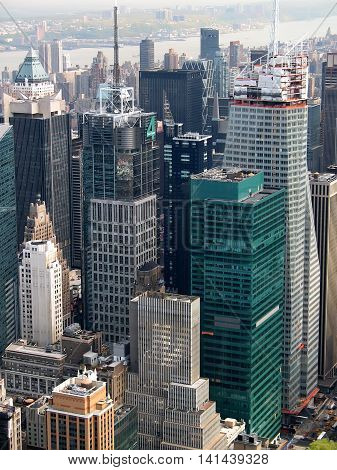 Aerial view on the New York city