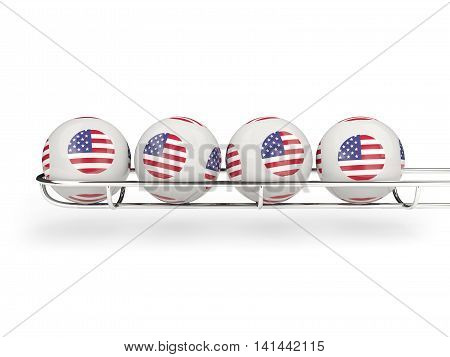Flag Of United States Of America On Lottery Balls