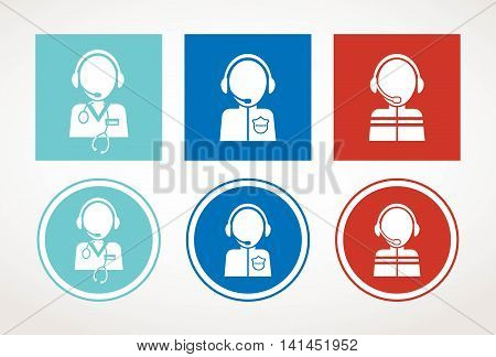 first aid, 911 assistance centre hotline. vector illustration