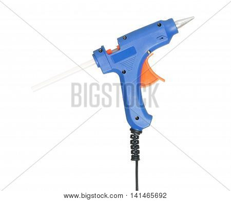 New glue gun isolated on white background cutout