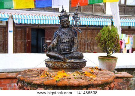 Buddha at the Boudhanath Stupa in Kathmandu