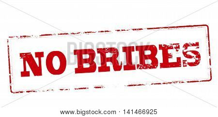 Rubber stamp with text no bribes inside vector illustration