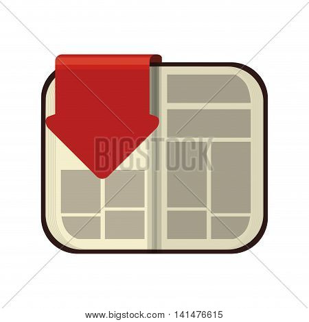 ebook arrow internet web reading lerning icon. Isolated and flat illustration. Vector graphic