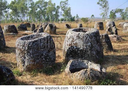The Plain of Jars in Phonsavan , Laos