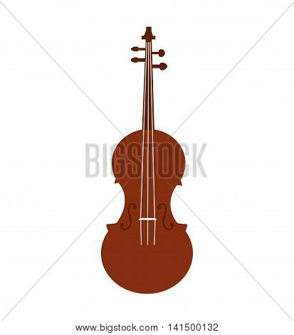 cello music instrument sound melody icon. Isolated and flat illustration. Vector graphic