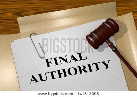 Final Authority - Legal Concept