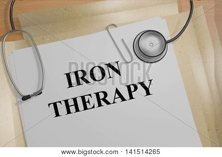 Iron Therapy - Medical Concept
