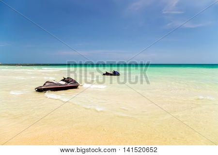 Tropical Sea Jet Ski