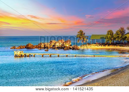 Sunrise Tropical Landscape Sea