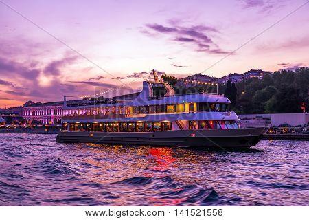Boat Night Bosphorus