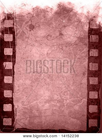 poster of grunge film strip effect backgrounds