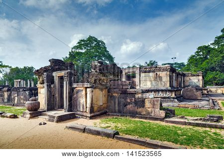 Hatadage Ancient Ruins In Polonnaruwa City Temple Unesco