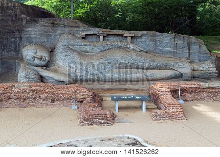 Buddha Statue Carved In To The Rock