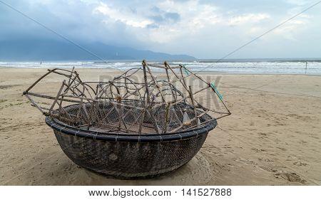 Fishing Boat In Danang Beach, Viet Nam