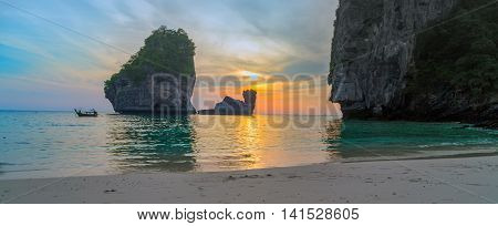 Sunset Of Thailand.
