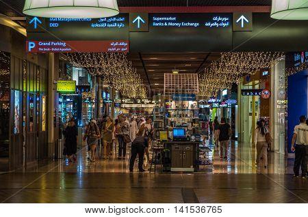 Dubai United Arab Emirates 13 May 2014 Beautiful  images at the Dubai Mall in the global city  of UAE