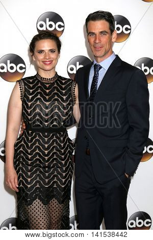 LOS ANGELES - AUG 4:  Hayley Atwell, Eddie Cahill at the ABC TCA Summer 2016 Party at the Beverly Hilton Hotel on August 4, 2016 in Beverly Hills, CA