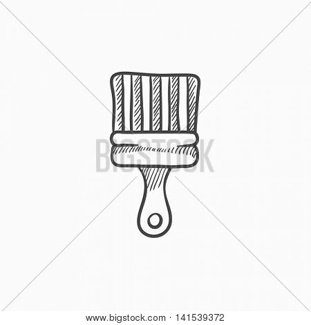 Paintbrush vector sketch icon isolated on background. Hand drawn Paintbrush icon. Paintbrush sketch icon for infographic, website or app.
