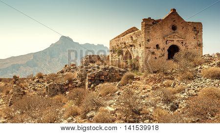 Crete, Greece: Venetian fort in famous Gramvousa island