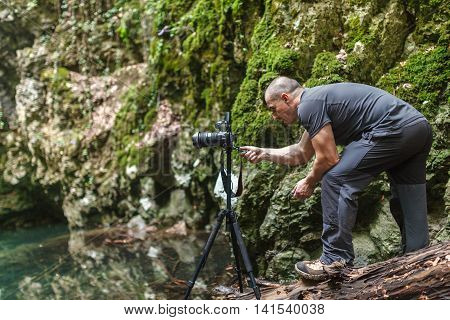 Professional Landscape Photographer By The Lake