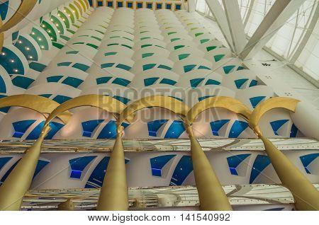 Dubai UAE 14 May 2014   Burj Al Arab Jumeirah in the global city of Dubai