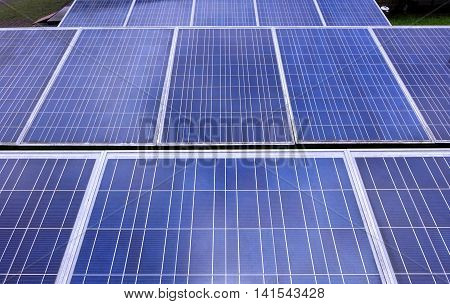 A large solar panel installation to create renewable energy