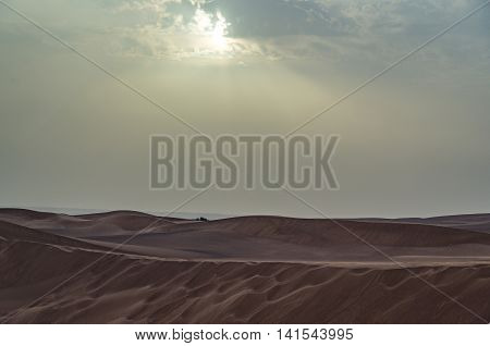 Dubai desert is close to the city and a pristine natural environment
