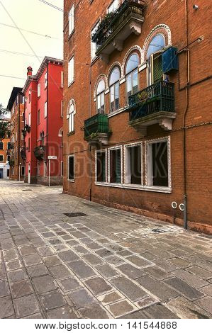 View Of A Street With Beautiful Apartments In Venice