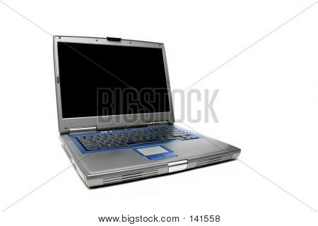 Laptop Notebook Over White