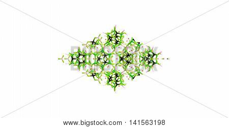 Tourmaline is a crystalline boron silicate mineral compounded with elements such as aluminium iron magnesium sodium lithium or potassium. Tourmaline is classified as a semi-precious stone. 3d illustration