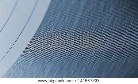 Closeup On Grooves Of Record On Turntable