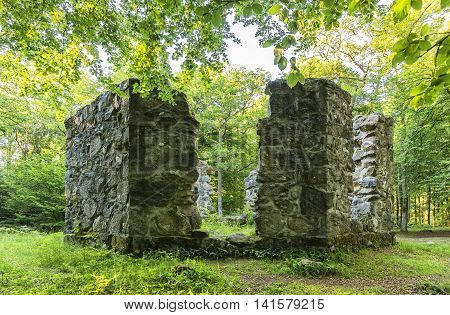 A ruined library belonging to the Late medieval castle of Hovdala Sweden.