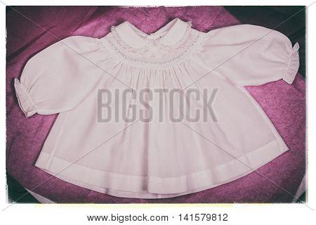 Baby dress nostalgic photo.