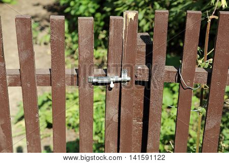 Wooden Bolted Fence