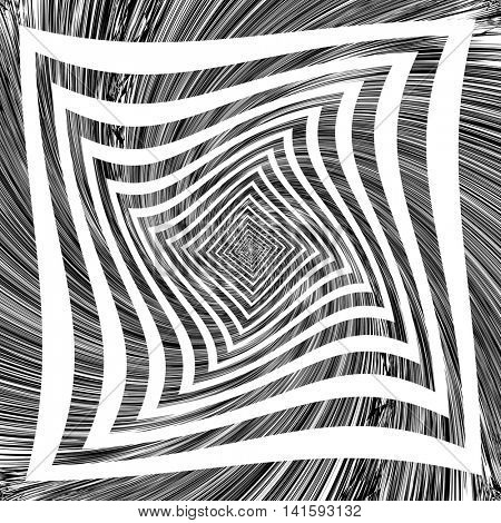 Torsion movement. Abstract background. Vector art.