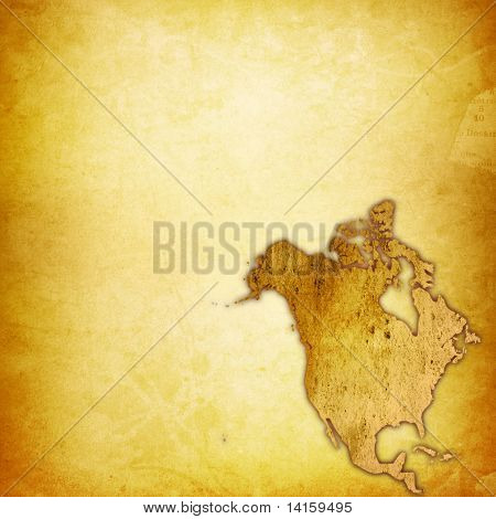 aged America map-vintage artwork poster