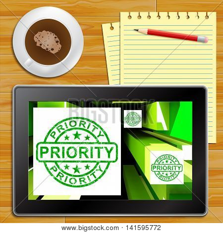 Priority On Cubes Shows Urgent Dispatch Tablet