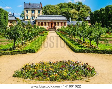 Prince Georg Garden In Darmstadt Hdr
