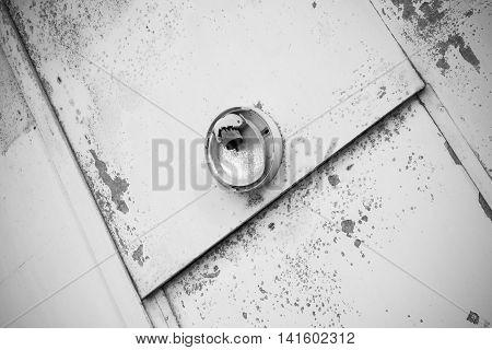 Door With A Broken Light Fixture