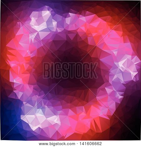 Lord of the Rings. Multicolored polygonal mosaic background, vector abstract illustration, creative business design templates. Low Poly. Endlessly repeating shapes.