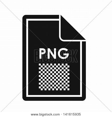 File PNG icon in simple style isolated on white background. Document type symbol