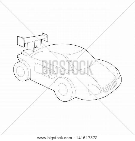 Race car for rally icon in outline style isolated on white background. Racing symbol