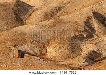 Mountainous Judean desert landscape near Jericho, Israel