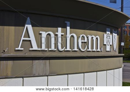Indianapolis - Circa April 2016: Anthem World Headquarters. Anthem is a Trusted Health Insurance Plan Provider VI