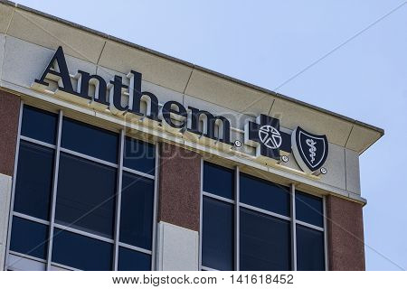 Indianapolis - Circa August 2016: Anthem World Headquarters. Anthem is a Trusted Health Insurance Plan Provider VII