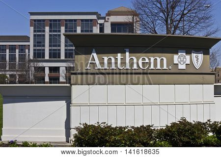 Indianapolis - Circa April 2016: Anthem World Headquarters. Anthem is a Trusted Health Insurance Plan Provider VIII
