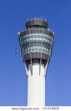 Indianapolis - Circa August 2016: The Air Traffic Control Tower at Indianapolis International Airport II
