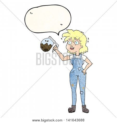 too much coffee freehand speech bubble textured cartoon
